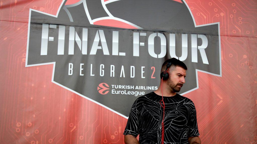 DJ performance at Euroleague Final Four at Stark Arena in Belgrade