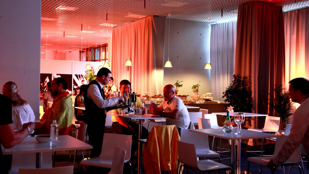 Dedicated waiter service in the Platinum lounge during Euroleague Final Four in Belgrade