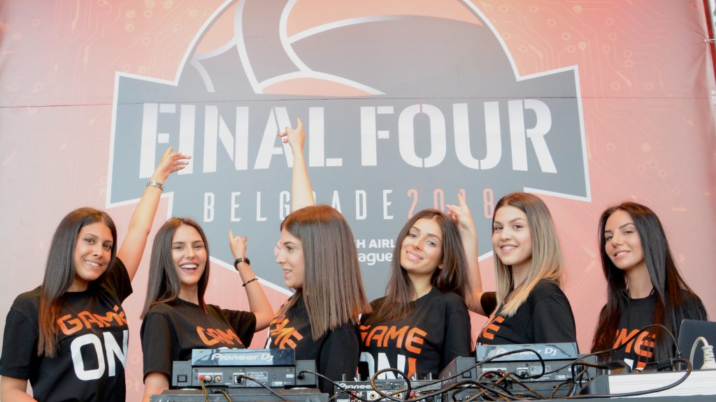 Entertainment team on stage - Euroleague Final Four 2018