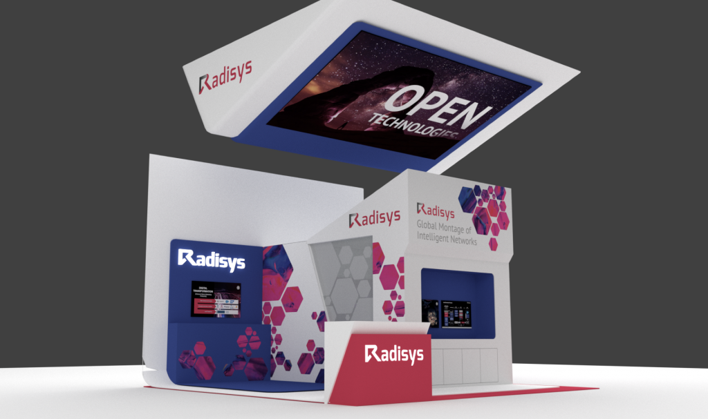 3D render of Radisys booth for MWC 2019