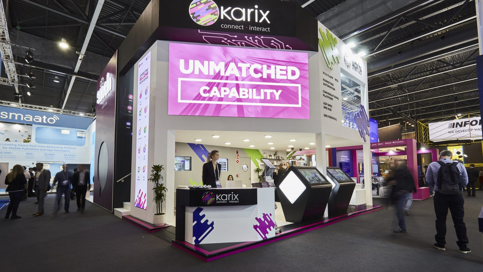 Karix booth at MWC 2019