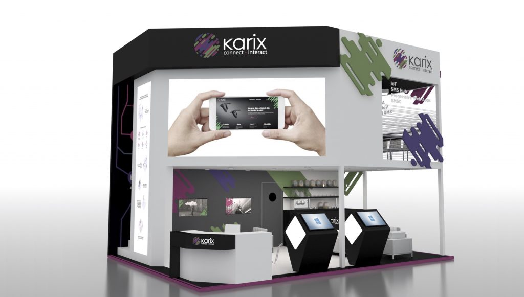 3D render of Karix booth for MWC 2019
