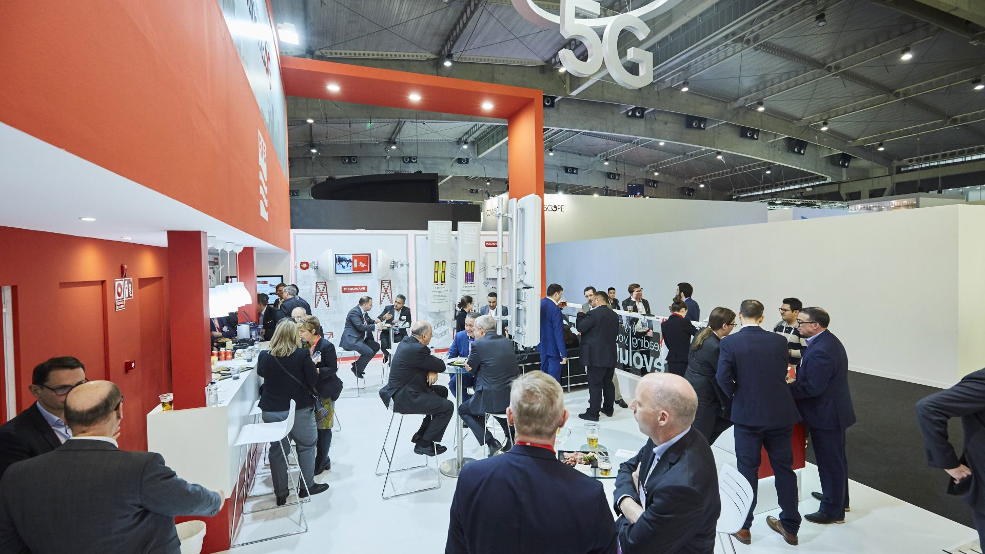 RFS booth at MWC 2019 - the open lounge