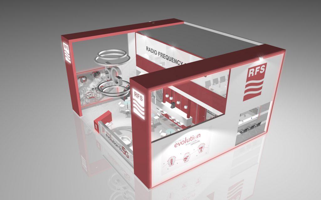 3D design of RFS booth at MWC 2019