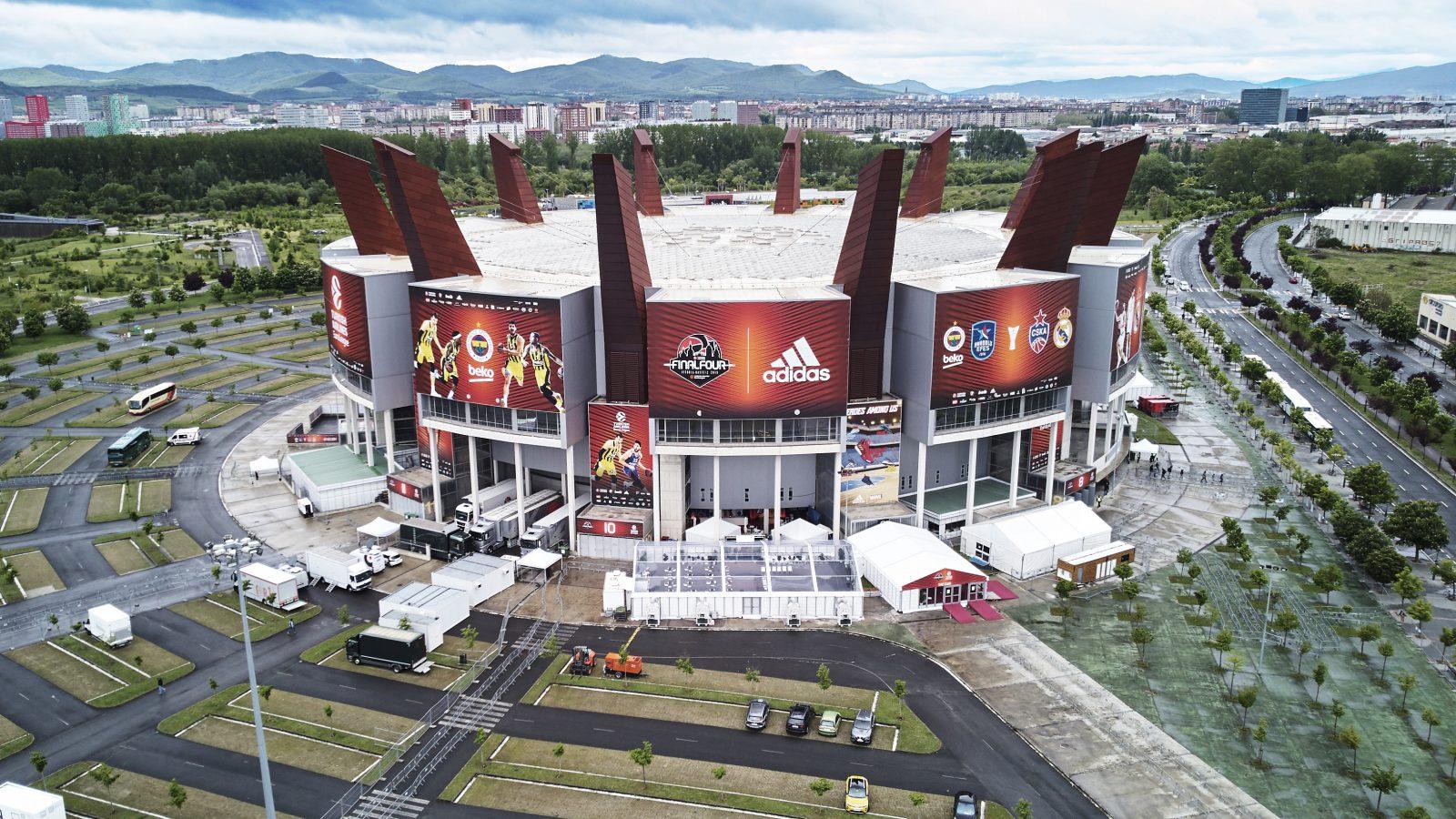 Aerial view of Fernando Buesa Arena during Euroleague Basketball Final Four