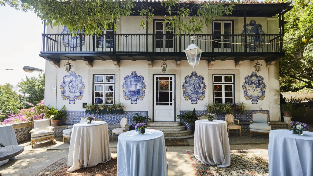 Lisbon outdoor venue for events with traditional Portuguese design