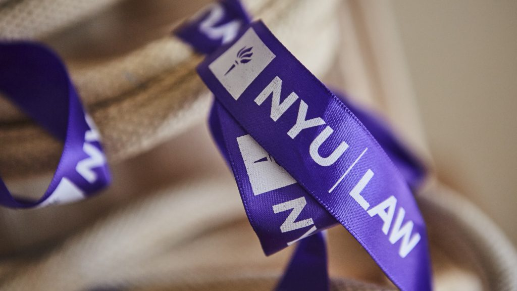 NYU LAW personalised lanyard