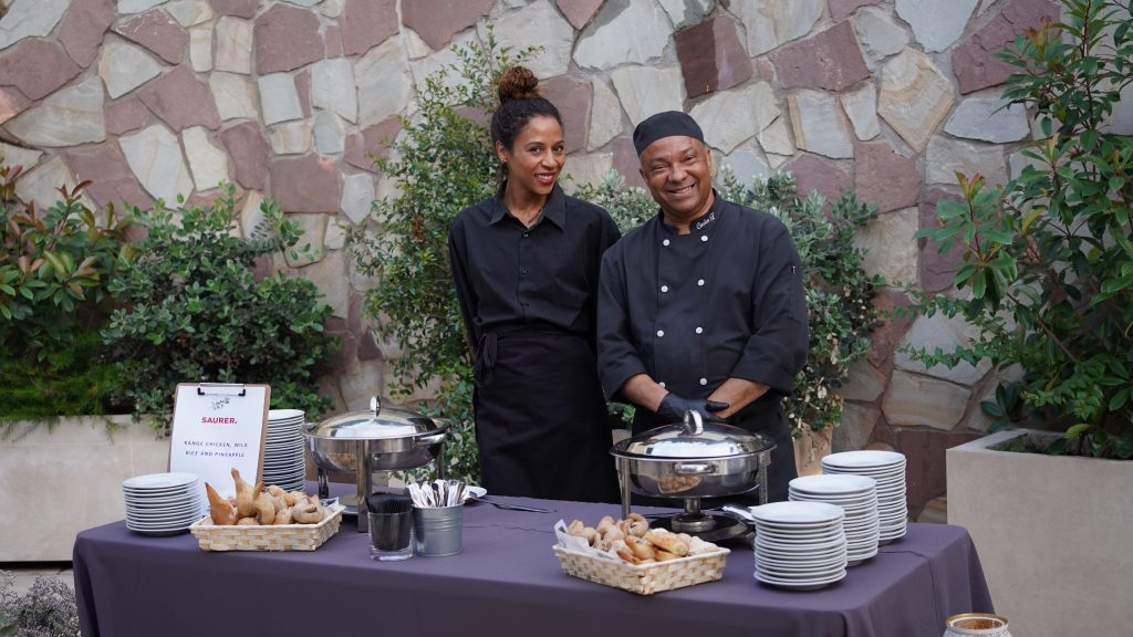 Catering staff prepared for the guests at event venue in Barcelona