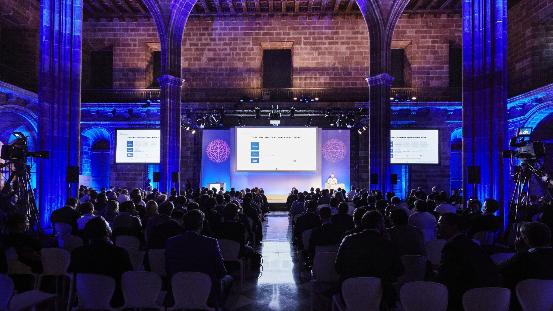 Corporate presentation in historical venue in Barcelona
