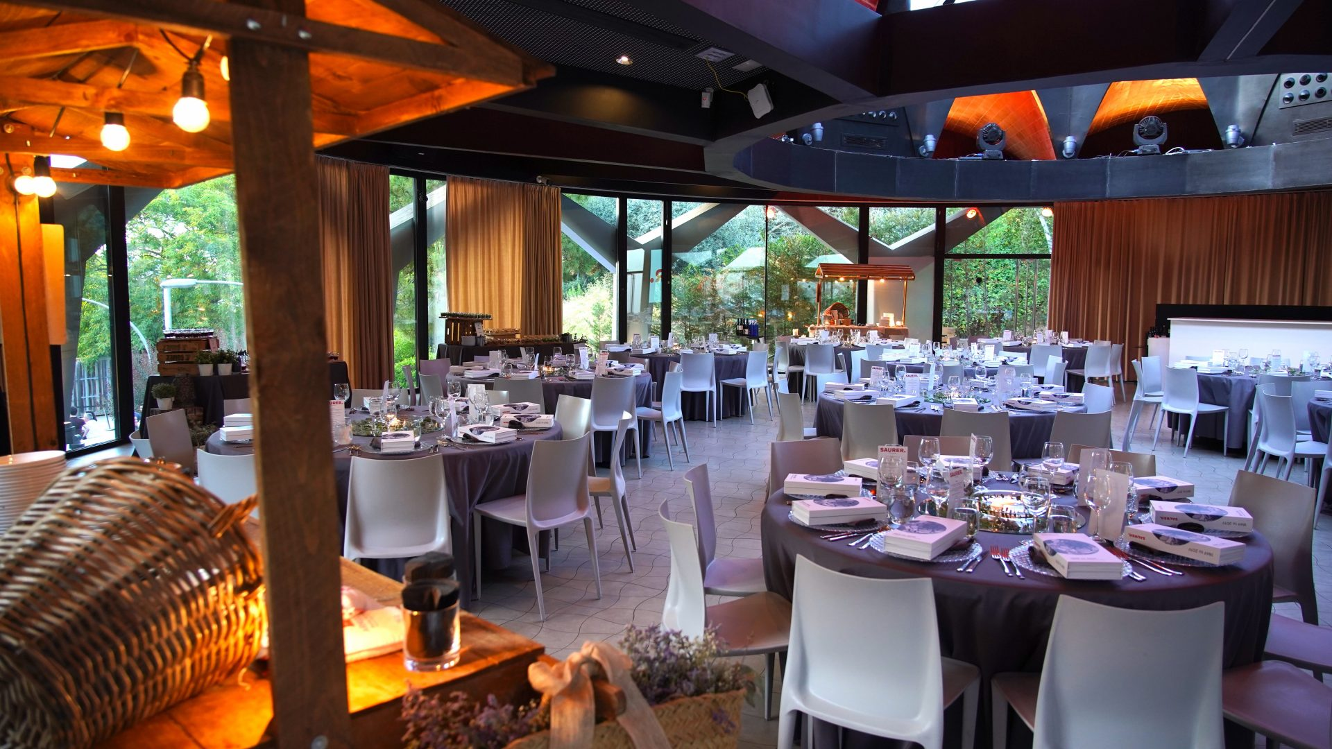 Gala dinner setup in event venue in Barcelona