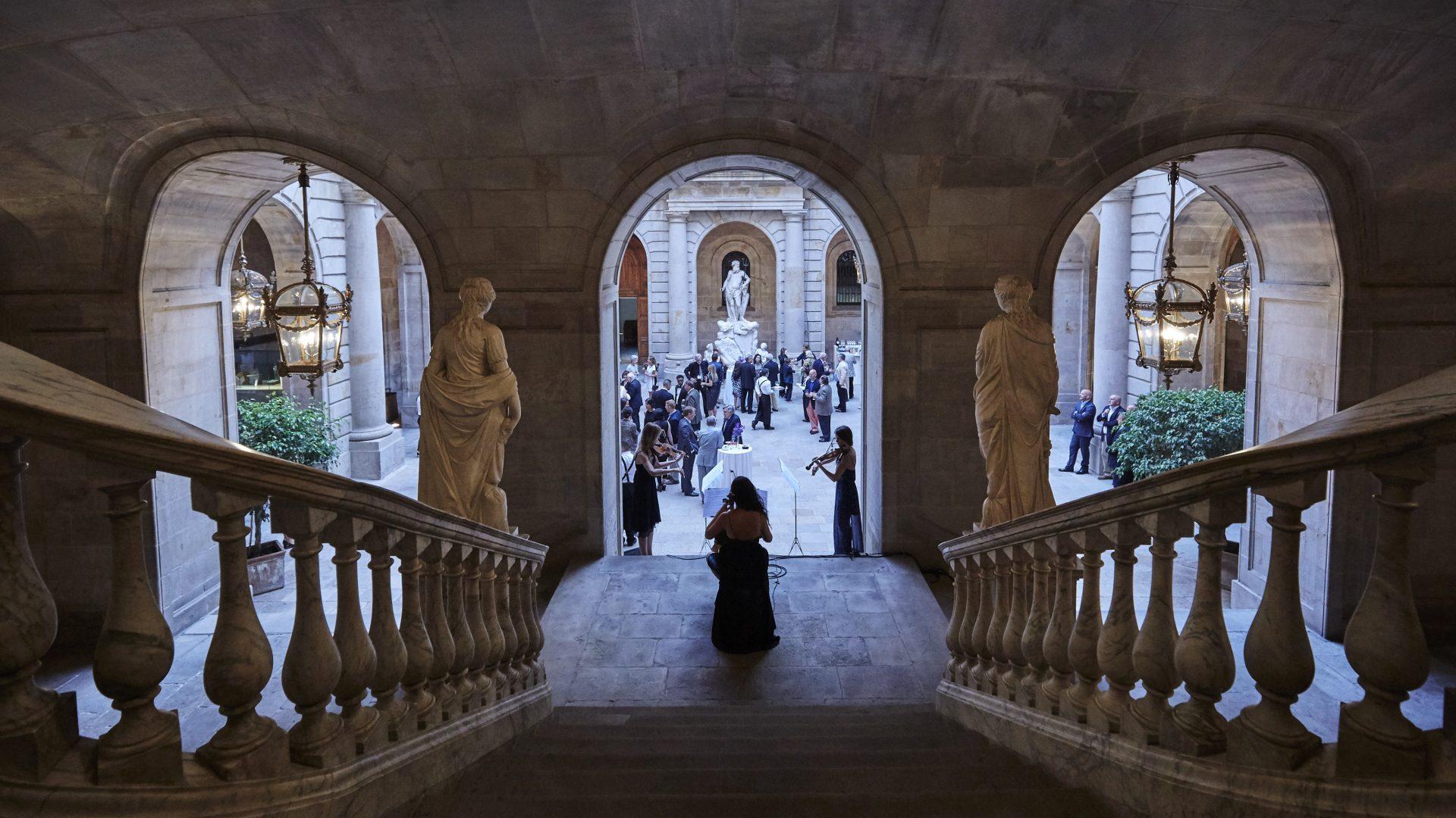 Patio of a historical venue in Barcelona