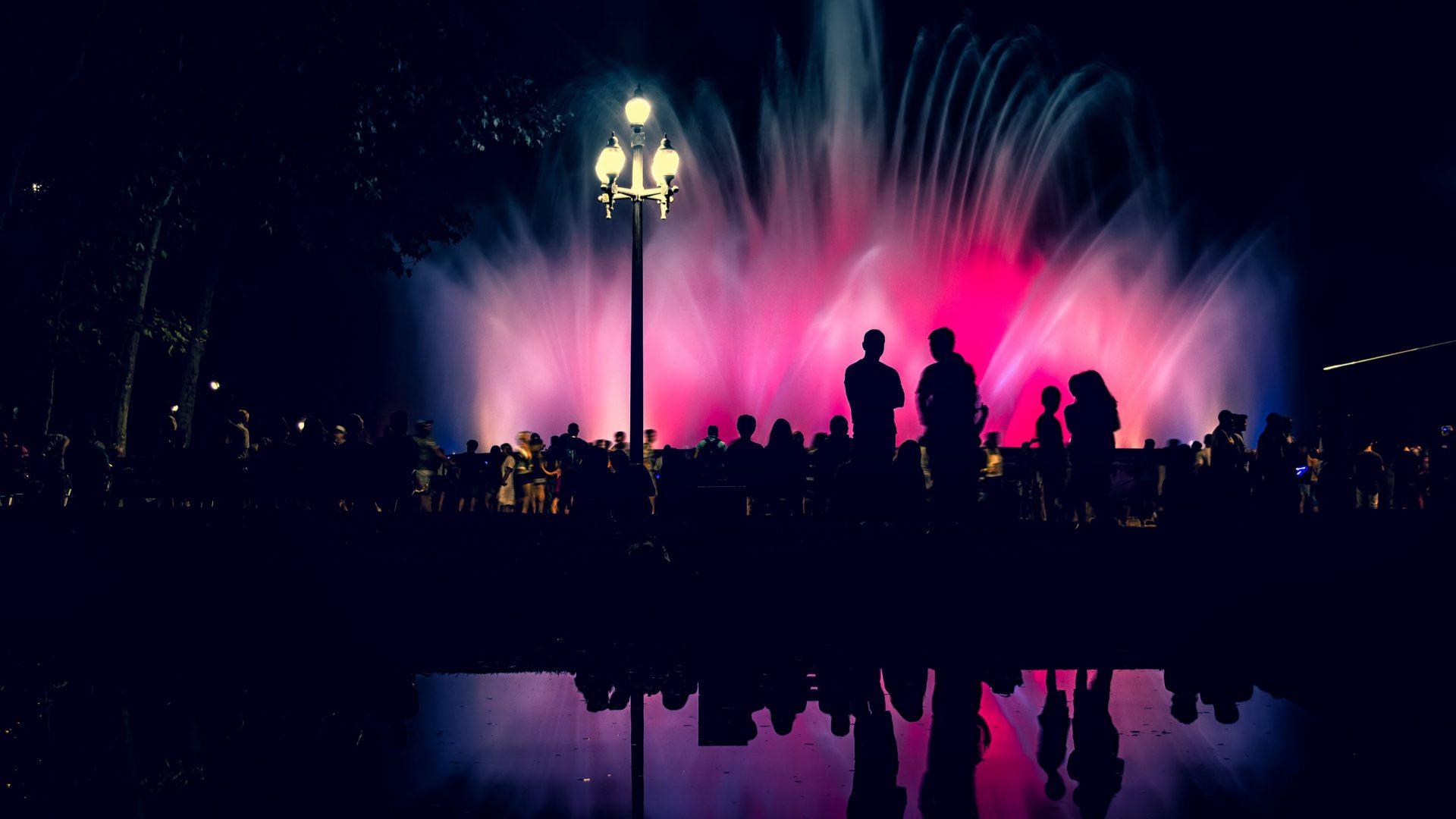 Magic Fountain show, Montjuic, Barcelona