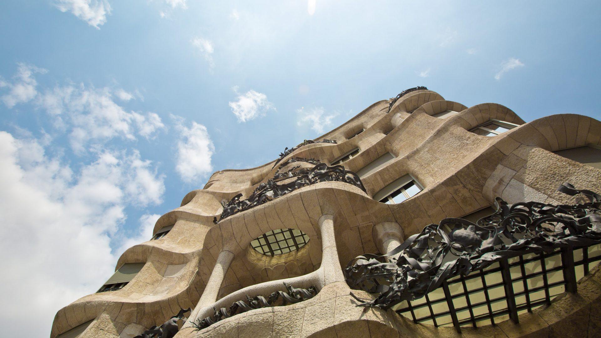 La Pedrera, Casa Mila, Barcelona on a sunny day