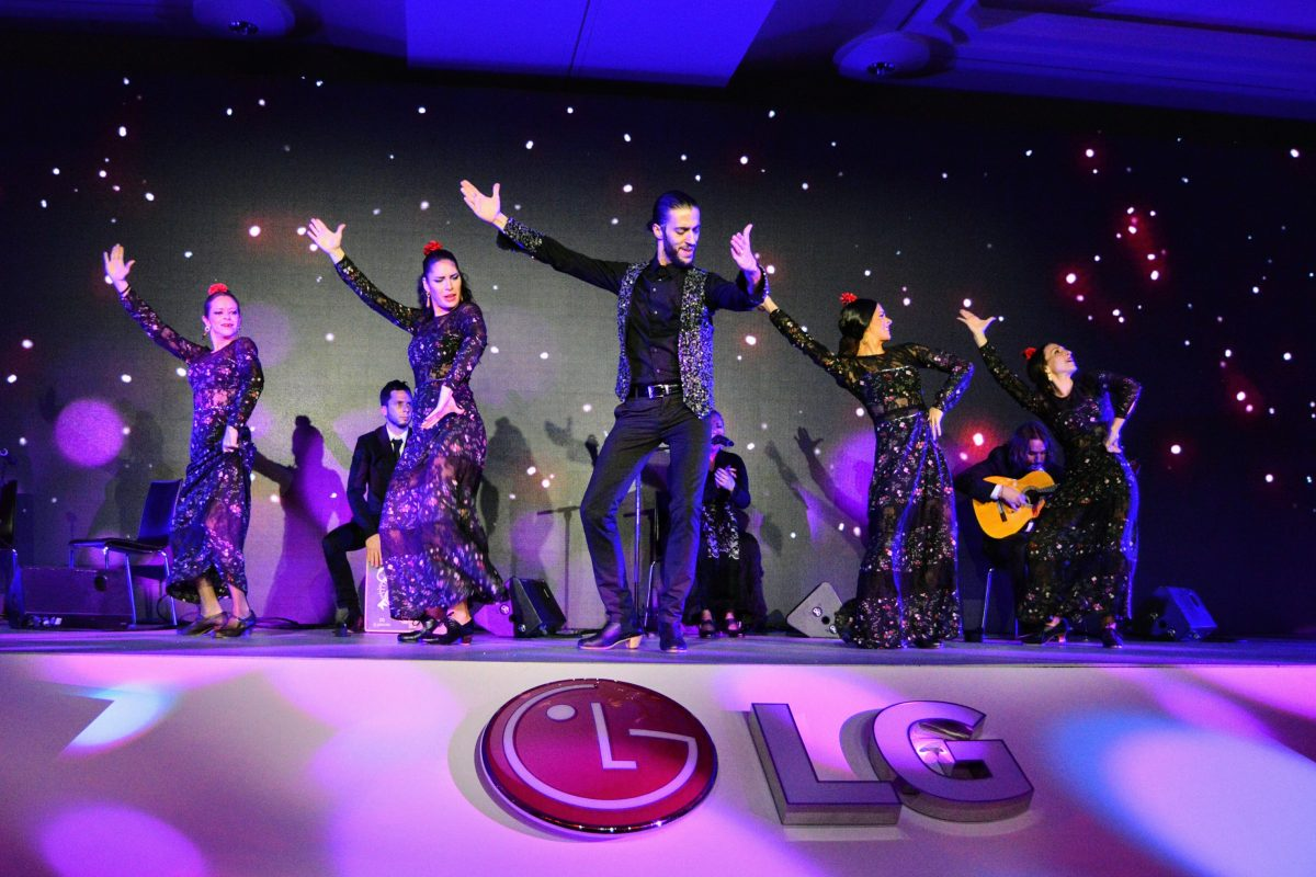Stage dance performance at LG corporate party in Barcelona