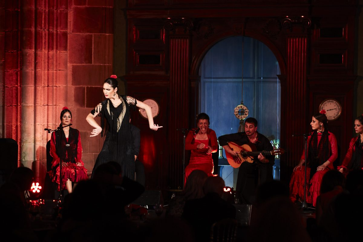 Flamenco show during a corporate event in Barcelona