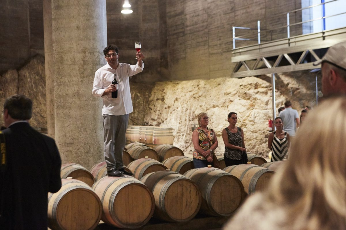 Wine tasting for conference attendees in Barcelona