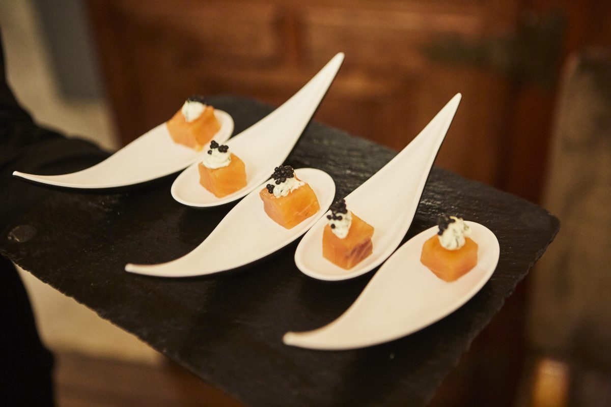 Gourmet catering at corporate event in Lisbon